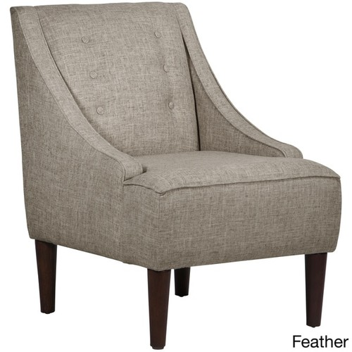 Skyline Furniture Zuma Linen Fabric Midcentury Modern Chair