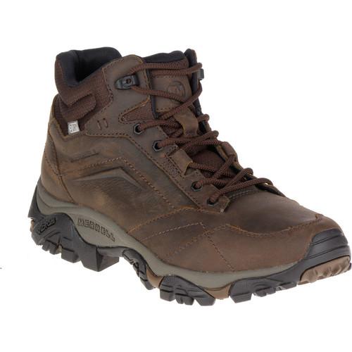 MERRELL Men's Moab Adventure Mid Waterproof Hiking Boots, Dark Earth