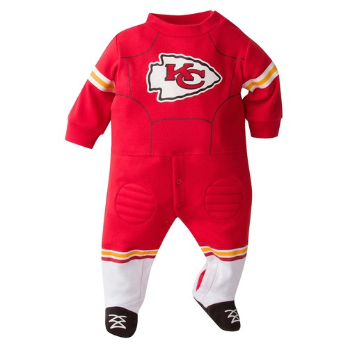 Baby Kansas City Chiefs Team Uniform Footed Sleep & Play