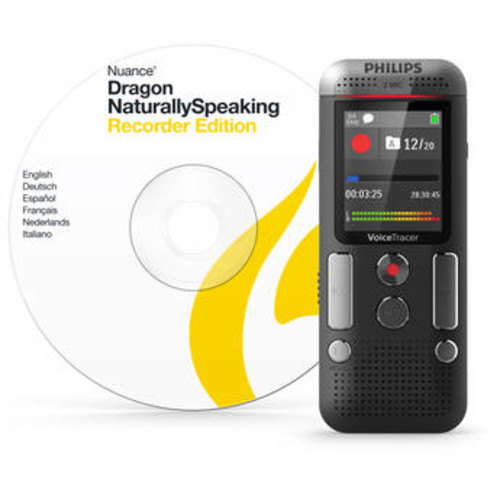 Philips Voice Tracer DVT2710 - Voice recorder - 110 mW - 8 GB - display: 1.77 in - chrome, anthracite