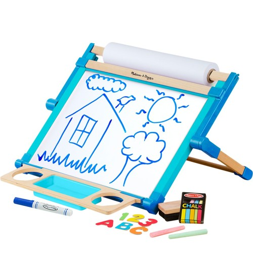Melissa \u0026 Doug Double-Sided Magnetic Tabletop Easel