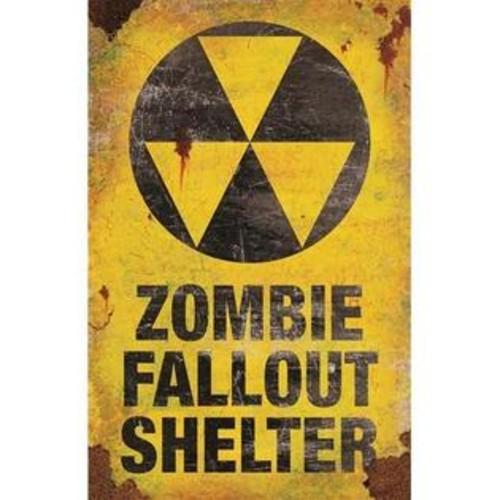Morris Metal Sign zombie Fallout Shel