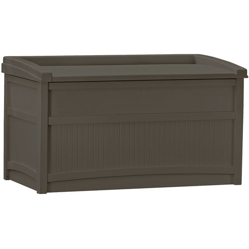 Suncast 50 Gallon Java Resin Storage Seat Deck Box DB5500J