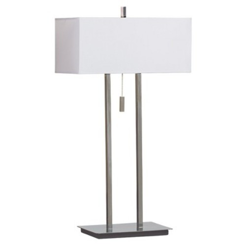 Kenroy Home Emilio 29 in. Chrome Table Lamp