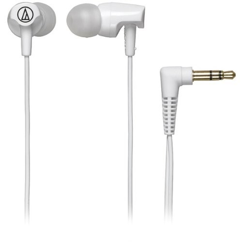 Audio Technica ATHCLR100WH In-Ear Headphones, White [White, Standard Packaging]