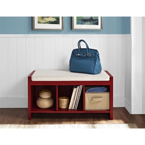 Ameriwood Home Penelope Entryway Storage Bench - Red