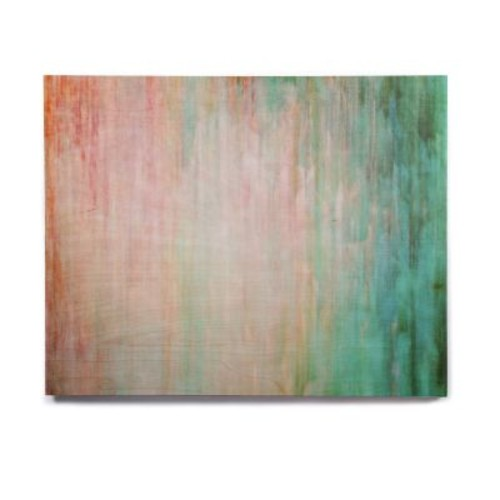East Urban Home 'Color Wash Teal' Graphic Art Print on Wood