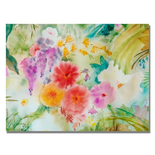 Trademark Global Sheila Golden 'Dream Flowers' Canvas Art [Overall Dimensions : 35x47]