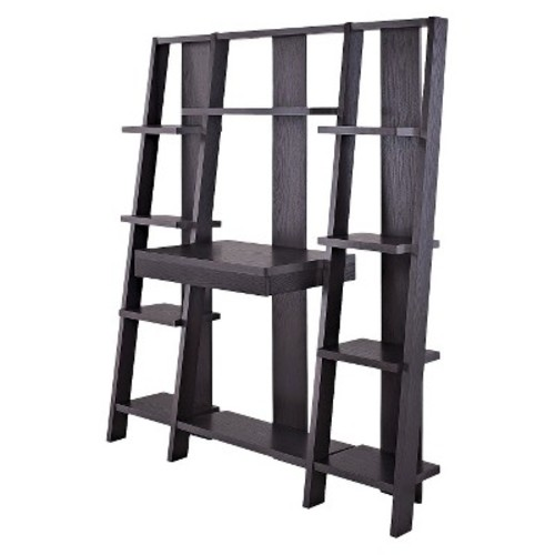 Tiffany Ladder Desk/Bookcase - Espresso - Ameriwood Home