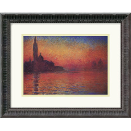 Amanti Art \'Dusk, Sunset in Venice, 1908\' by Claude Monet Framed Painting Print