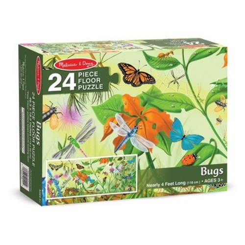 Melissa & Doug Bugs Jumbo Jigsaw Floor Puzzle (24pc, 4 feet long)