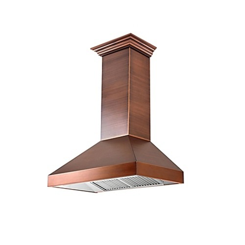ZLINE Designer Series 8667C 30-Inch Copper Wall Range Hood