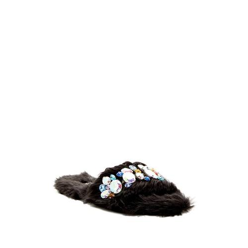 Royalty Faux Fur Embellished Sandal