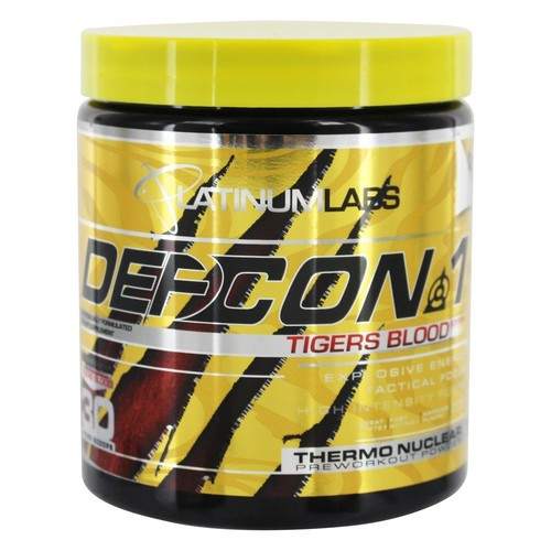 Platinum Labs - DefCon 1 Thermonuclear Preworkout Powder Tigers Blood Edition - 7.9 oz.
