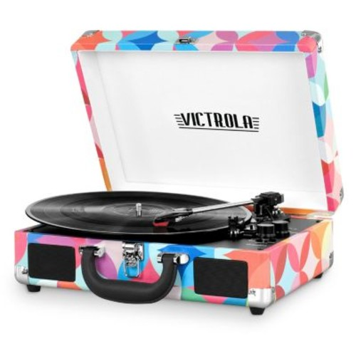 Victrola Patterned Suitcase Record Player with Bluetooth