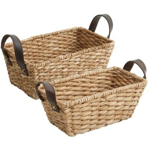 Gracie Oaks 2 Piece Basket Set