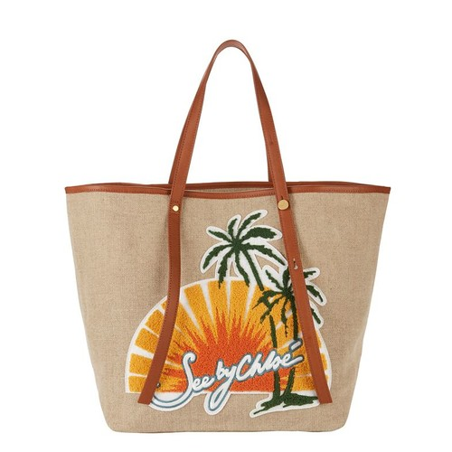 SEE BY CHLOÉ Sunset Logo Canvas Tote Bag