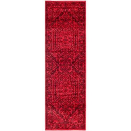 Safavieh Adirondack Red/Black 2 ft. 6 in. x 10 ft. Runner