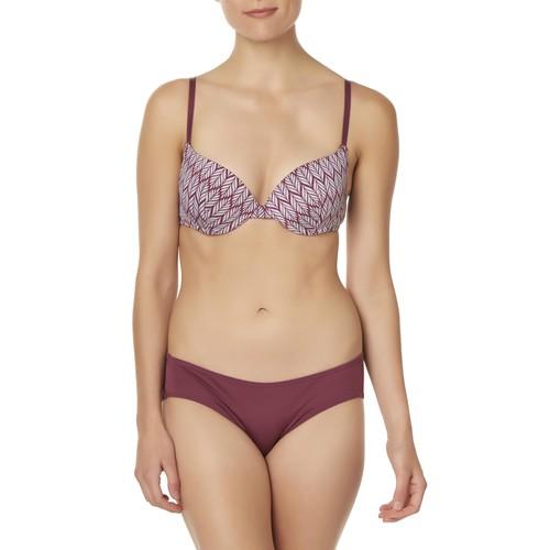 Women's Push-Up Bra & Bikini Panties - Leaf