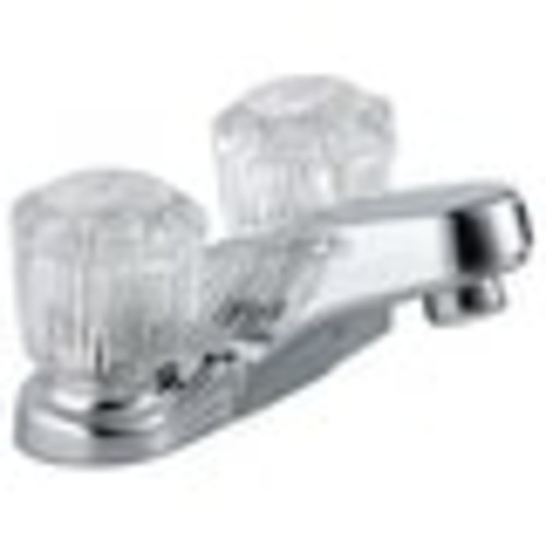 Delta 2502LF Two Acrylic Handle Lavatory Faucet, Chrome