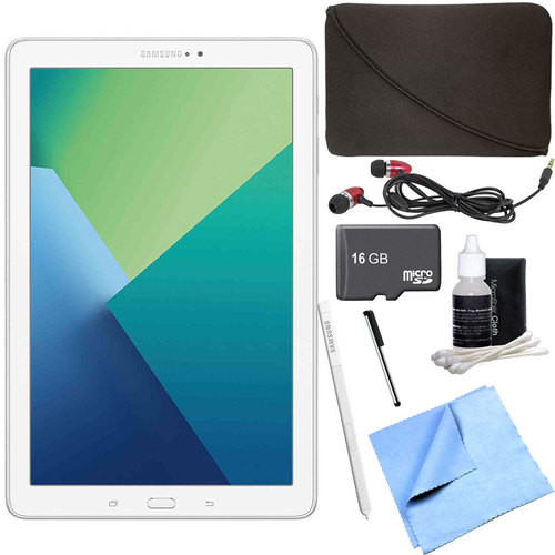 Samsung Galaxy Tab A 10.1 Tablet PC White w/ S Pen, WiFi & Bluetooth w/ 16GB Card Bundle