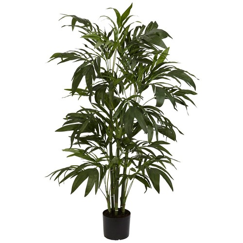 Nearly Natural 5327 Bamboo Palm Silk Tree, 4-Feet, Green