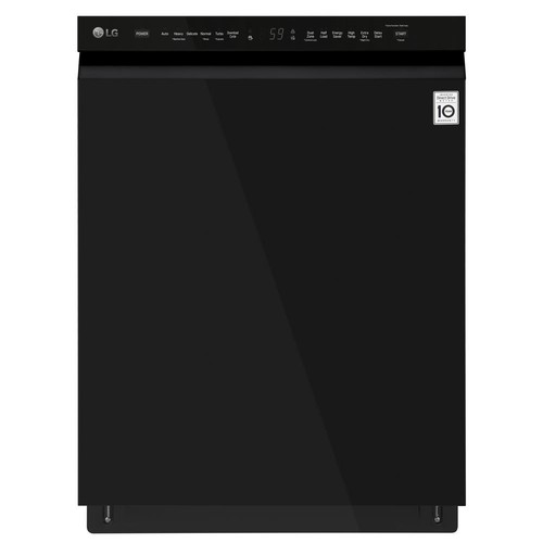 LG Electronics Front Control Built-In Tall Tub Dishwasher in Black with Stainless Steel Tub
