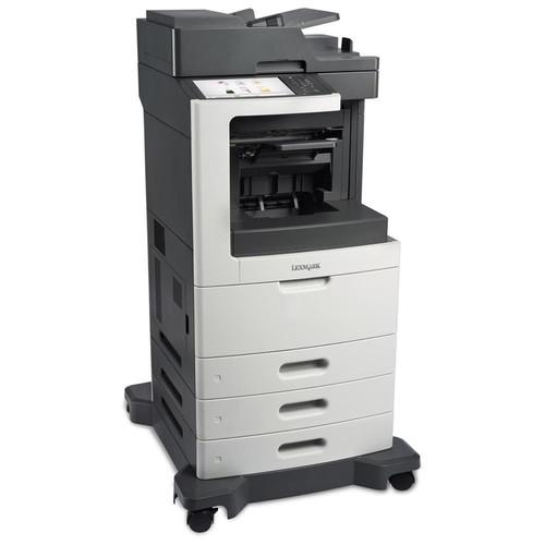 Lexmark MX810DTE Laser Multifunction Printer - Monochrome - Plain Paper Print - Desktop - Copier/Fax/Printer/Scanner - 63 ppm Mono Print - 1200 x 1200 dpi Print - 63 cpm Mono Copy - 10.2