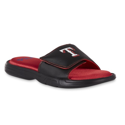 Fila Men's Black Slide Sandal - Texas Rangers