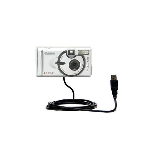 USB Data Cable compatible with the Canon PowerShot A200