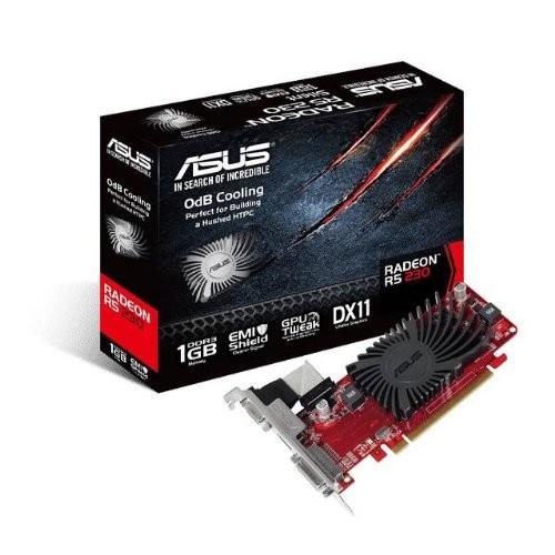 Asus R5230-SL-1GD3-L Radeon R5 230 Graphic Card - 625 MHz Core - 1 GB DDR3 SDRAM - PCI Express 2.1 - Low-profile - 1200 MHz Memory Clock - 64 bit Bus Width - 2560 x 1600 - CrossFire -