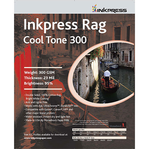 Picture Rag Cool Tone Paper (300 gsm) for Inkjet - 13