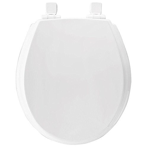 Slow Close Lift-Off Flip Cap Round Closed Front Toilet Seat in White [570SLOW 000; White]
