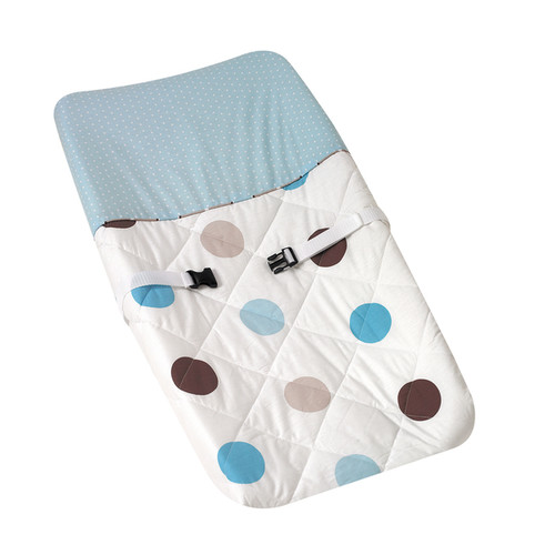 Sweet JoJo Designs Blue and Brown Mod Dots Changing Pad Cover