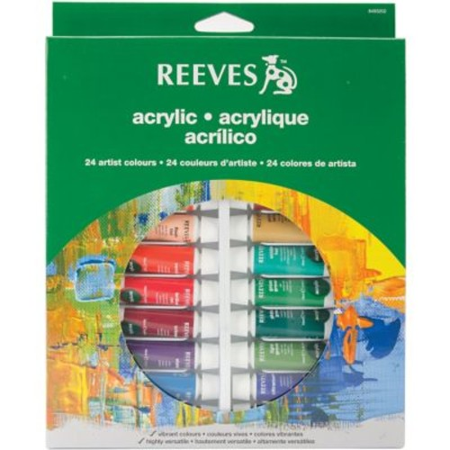 Reeves 10 ml. Acrylic Color Tube Set, 24/Pack (8493202)