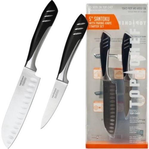 Top Chef by Master Cutlery Santoku and Paring 2-Piece Knife Set