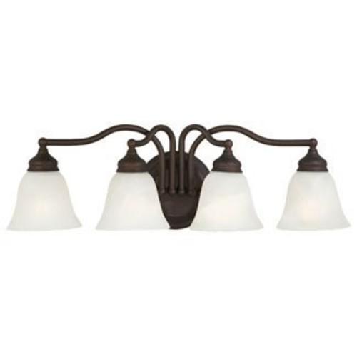 Feiss VS6704-ORB 4-Bulb Vanity Light Fixture, Oil Rubbed Bronze Finish