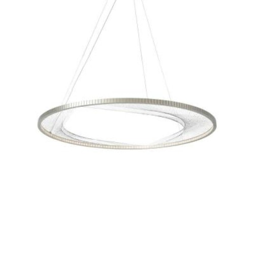 LBL Lighting Interlace Satin Nickel LED Chandelier