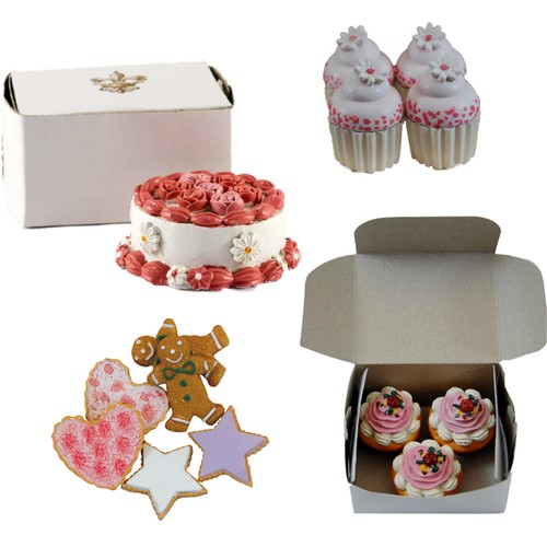18 Inch Doll Kitchen Food Accessories, Party Cake, Mini Cupcakes, Muffins, Cookies