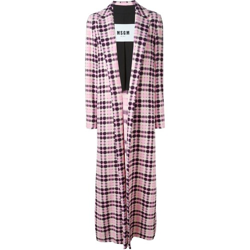 MSGM Checked Long Coat
