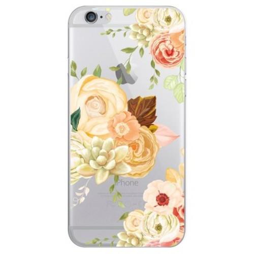 iPhone 6/6S/7/8 Case Hybrid Flower Garden Clear Blue - OTM Essentials