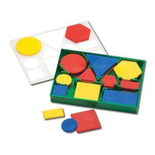 Learning Advantage 7101 Attribute Blocks, Plastic, Desk Set (Pack of 60)