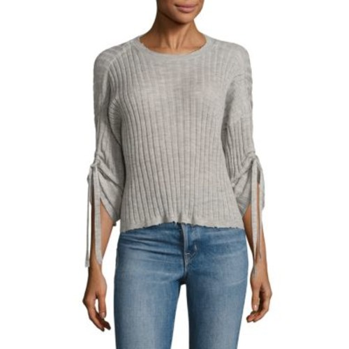 HELMUT LANG Ribbed Drawstring Cashmere Top
