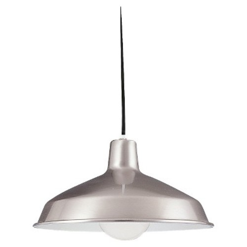 Sea Gull Lighting One Light Painted Shade Pendant - Brushed Stainless