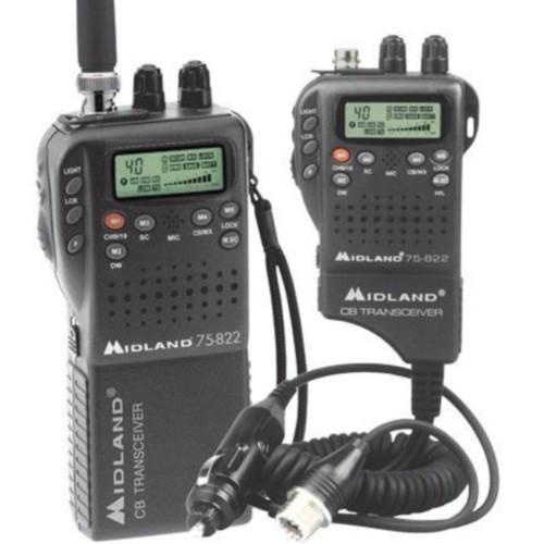 Midland Radio 75-822 Portable/Mobile CB Radio; 4 W