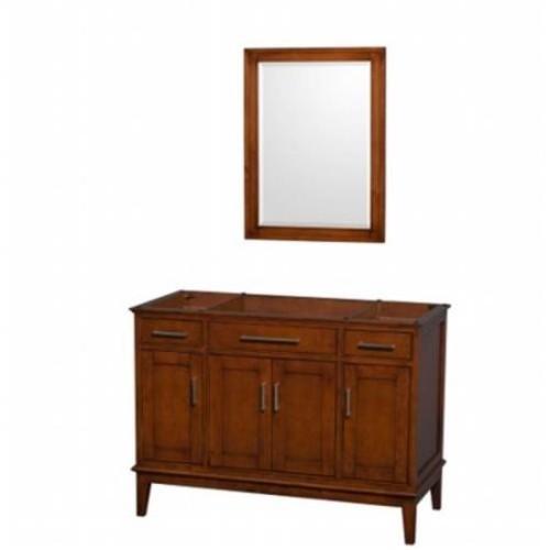 Hatton Collection 48 in Single Bathroom Vanity in Light Chestnut [WCV161648SCLCXSXXM24]