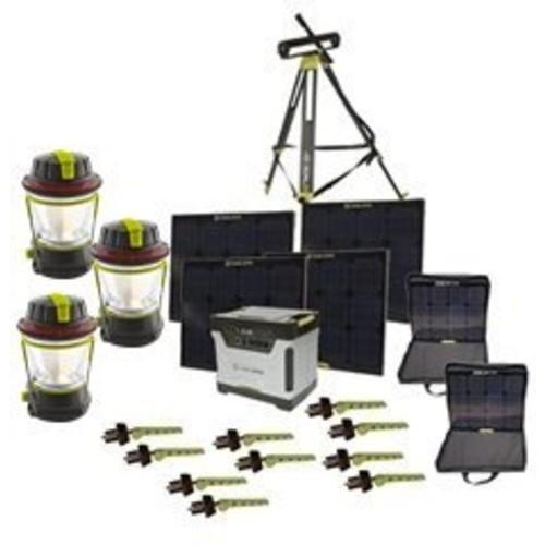 Goal Zero Yeti 1250 Solar Generator Kit with Cart, 4 Boulder 30 solar panels, 2 Panel Carrying Cases, 1 Solar Tripod (Holds 4 Panels), 3 Lighthouse 250, 10 Boulder Clips
