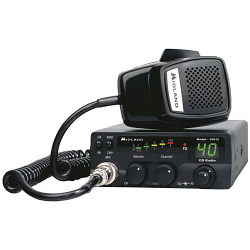 Midland - 40-Channel Mobile CB Radio with PA - Black