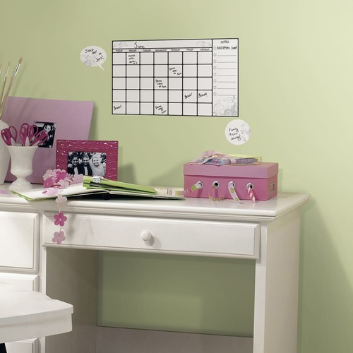 10 in. x 18 in. Dry Erase Calendar 7-Piece Peel and Stick Wall Decal