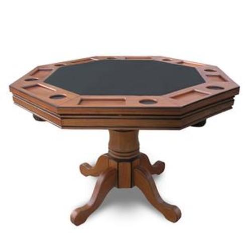 Hathaway HATHAWAY Kingston Dark Oak 3-in-1 Poker Table